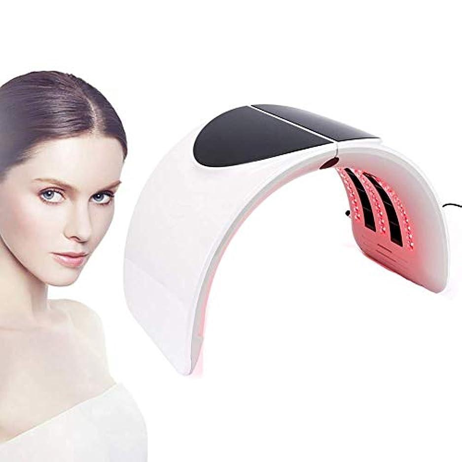 取り替える毒外観7色LED光子光療法美容機、折りたたみ式PDT美顔器肌の若返りアンチリンクルマスクデバイス