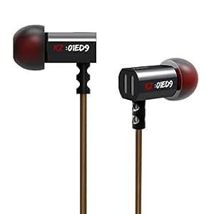 Mindkoo(ミンドコ) 3.5mm重低音 HIFI 耳栓イヤフォン KZ ED9 (標準,ブラック)