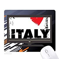 私はイタリアワードの愛の心の愛の広場 ノンスリップラバーマウスパッドはコンピュータゲームのオフィス