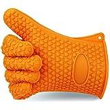 RAKU(ラク) 5指クッキンググローブ シリコンゴム製 耐熱防水手袋 男女兼用 左右2つセット 耐熱温度220℃