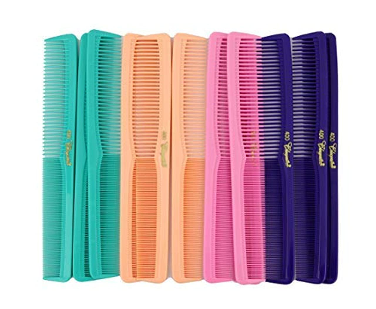朝食を食べるレディ汚染された7 inch All Purpose Hair Comb. Hair Cutting Combs. Barber's & Hairstylist Combs. Fresh Mix 12 Units. [並行輸入品]