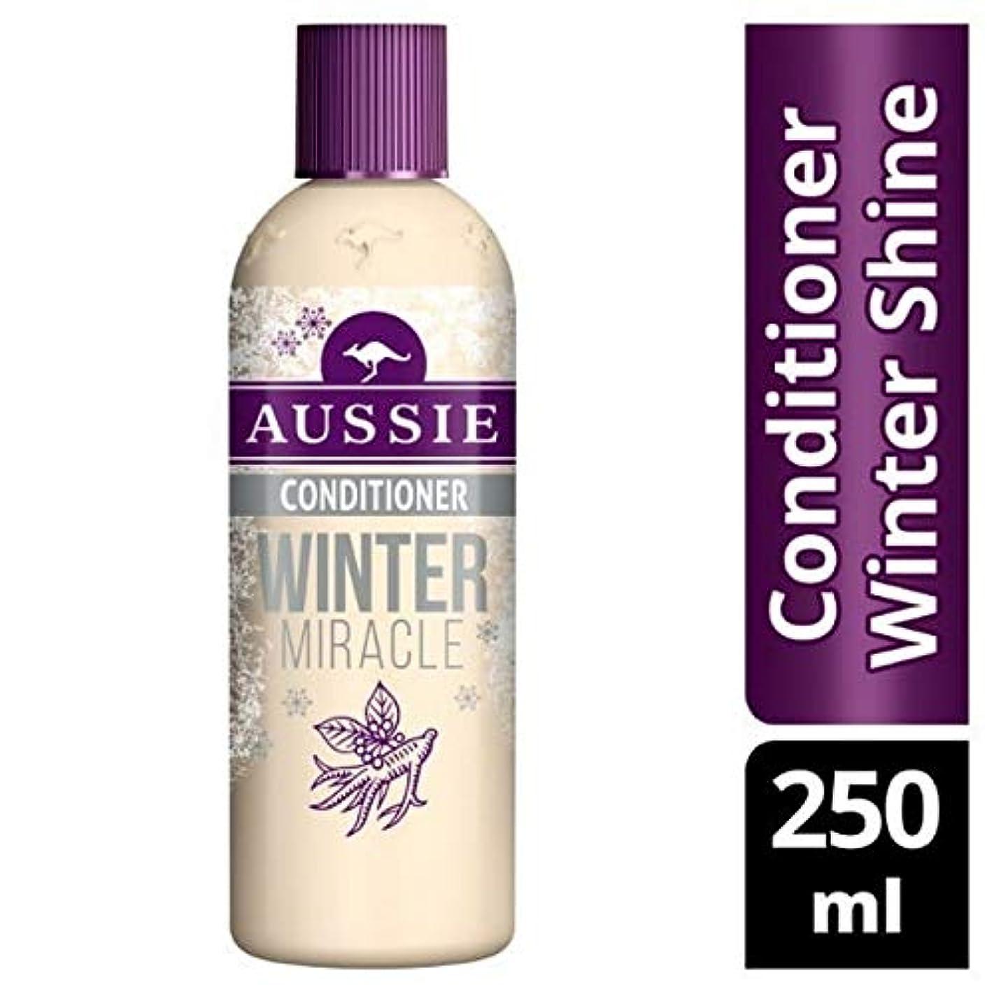 苦味マッサージアクション[Aussie ] 鈍い、疲れた髪の250ミリリットルのためのオーストラリアコンディショナー冬の奇跡 - Aussie Conditioner Winter Miracle For Dull, Tired Hair 250ml...