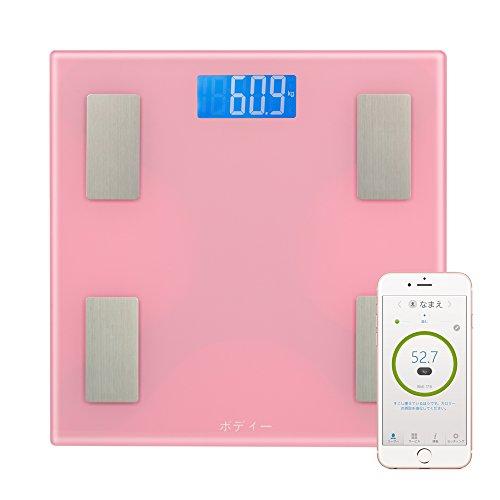 ボディー Bluetooth体重計 体組成計 体脂肪計 体重計デジタルヘルスメーター モニター体重計 電子体重計 ボディースケール ダイエット はかり スマホ対応 Bluetooth対応 iOS / Androidアプリで健康管理