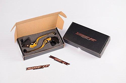 【レバーセット】ビレットレバーセット (ブレーキレバー&クラッチレバー) ブラック×ゴールド / CB400SF CB750 VTR250 ホーネット25...