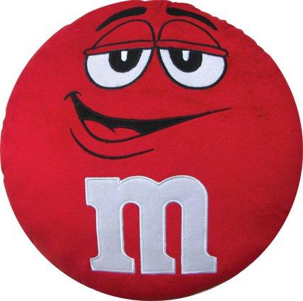 インテリアにバツグンのフワフワクッション【M&M's】エムアンドエムクッション 並行輸入 アメリカン雑貨アメリカ雑貨 (Red)