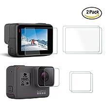 Betapleon LCD Display Screen Protector & Lens Protector Film for GoPro Hero6/5 Black LCD Display Screen Protector & Lens Protector Film for GoPro Hero 6 Hero 5 Black 2pcs (Film for HERO6/5)