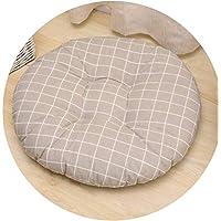 厚い綿の動物の家の事務所車のソファの椅子のクッションクリスマスツリー格子模様の丸い床のマット畳のクッションパッド,写真として,48x48cm