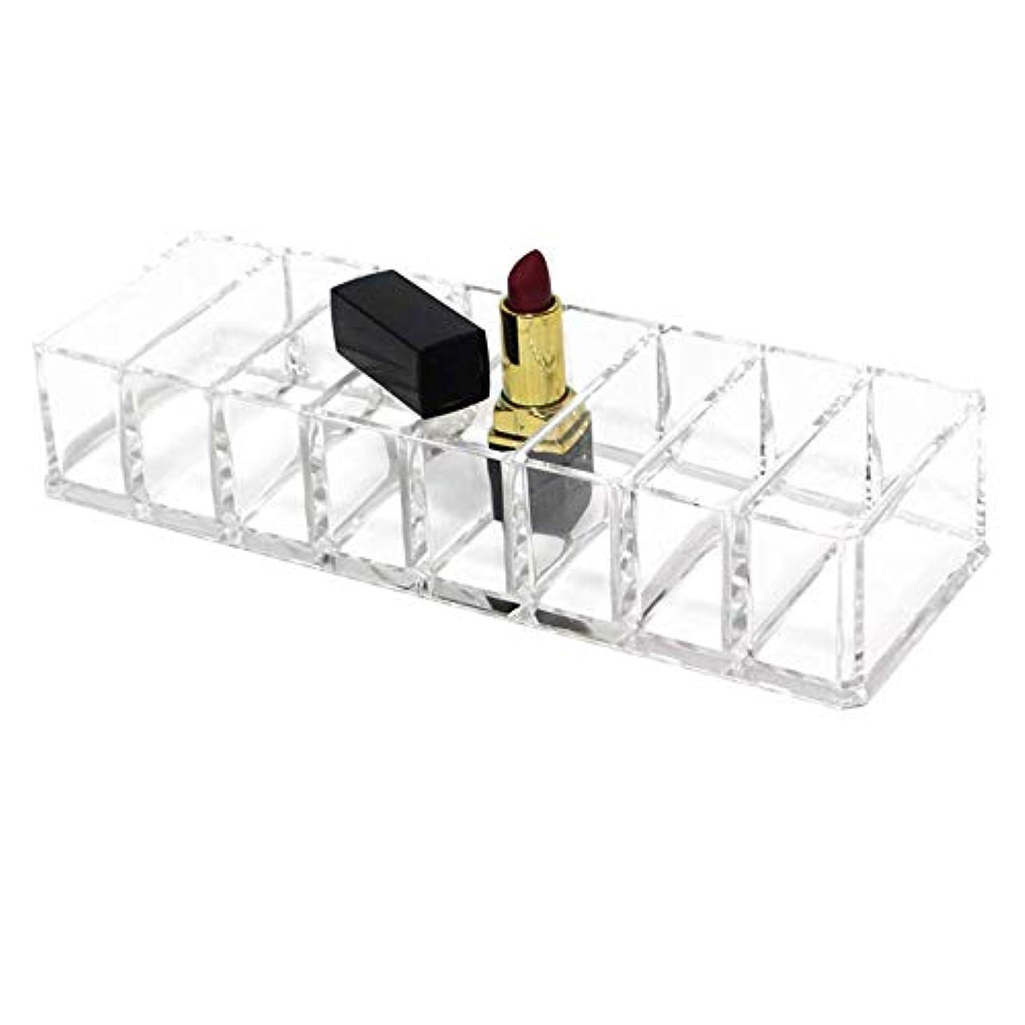 スペシャリスト初期火整理簡単 化粧品オーガナイザードレッシングテーブルやカウンタートップ用化粧品オーガナイザー口紅アイシャドウなど (Color : Clear, Size : 21.5*8.7*4.3CM)