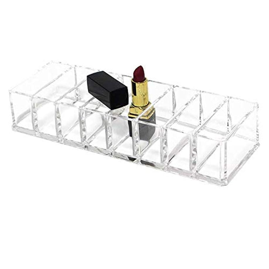 溶接合併集中的な整理簡単 化粧品オーガナイザードレッシングテーブルやカウンタートップ用化粧品オーガナイザー口紅アイシャドウなど (Color : Clear, Size : 21.5*8.7*4.3CM)