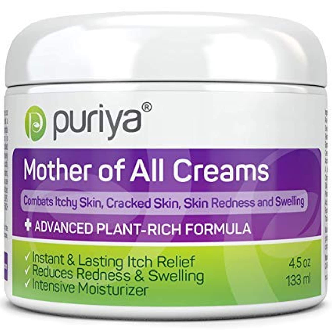 寸前軽蔑する一晩Puriya マザーオブオールクリーム Mother of All Creams Cream For Eczema, Psoriasis, Dermatitis and Rashes. Powerful Plant Rich...