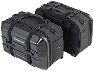 タナックス (TANAX) ツアーシェルケース モトフィズ(MOTOFIZZ) ブラック MFK-195 (容量40ℓ 片側20ℓ)
