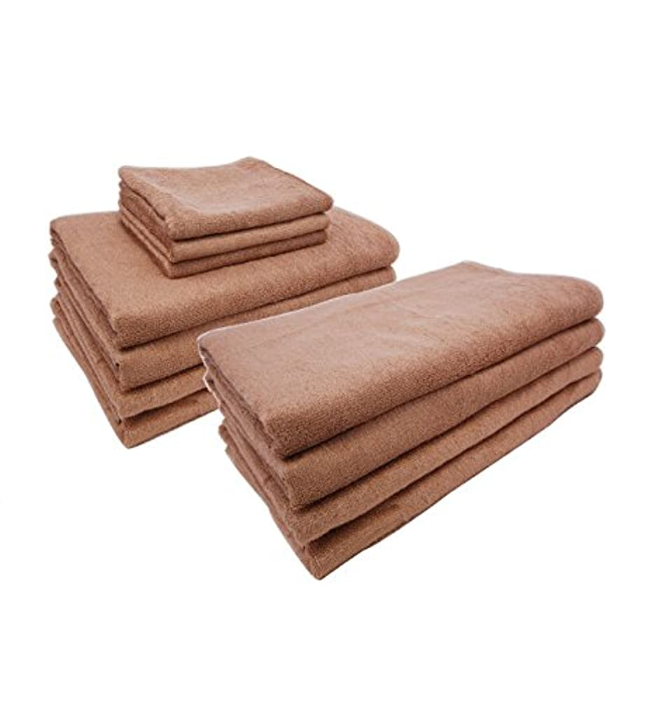間隔慢リラックスまとめ売り やわらか バンブー 竹繊維 バスタオルL (ソフトベージュ 5枚) 80×150cm 竹タオル 業務用タオル