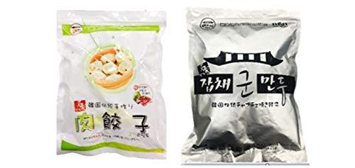 韓国餃子2�s(肉餃子1�s+チャプチェ焼き餃子1�s)