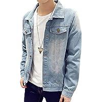 YFFUSHI 全3色 デニムジャケット Gジャン メンズ ジージャン 高品質 ダメージ 加工 長袖 大きいサイズ XS-3XL 綿 カジュアル きれいめ お洒落 快適