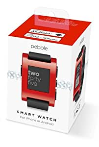 Pebble Smartwatch Red【iPhone & Android対応 スマートウォッチ】並行輸入品