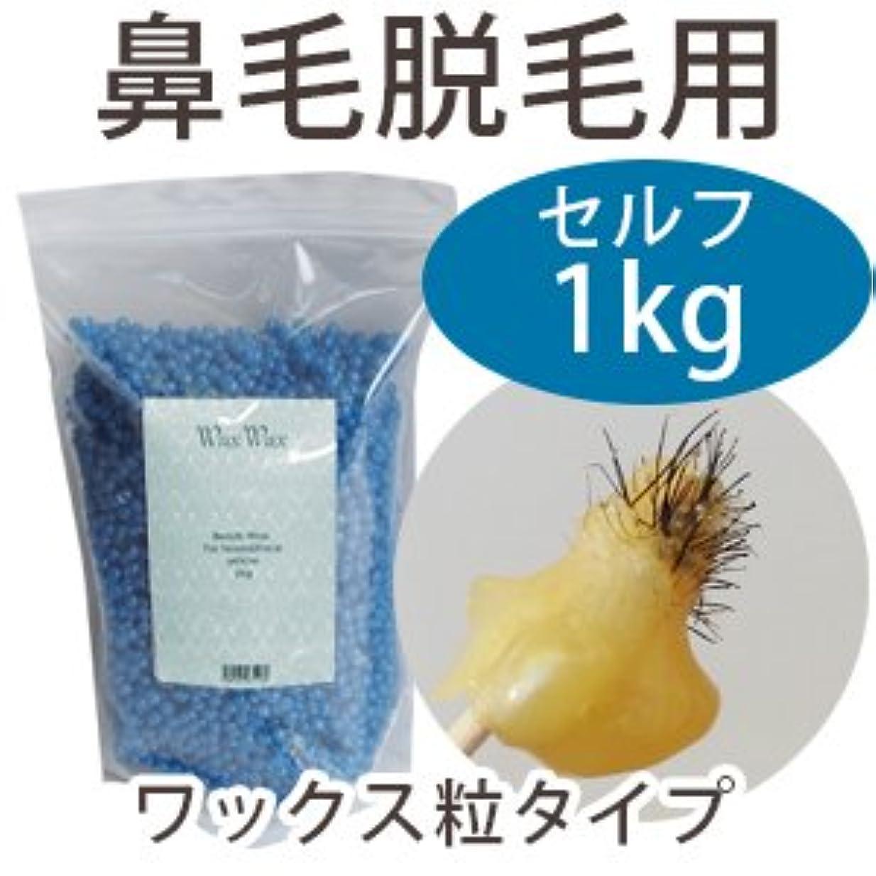 コンプリート真似るカビ鼻毛 産毛 脱毛 ビーズ ワックス (ブルー 1kg)