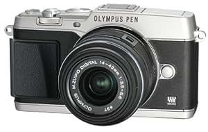 OLYMPUS ミラーレス一眼 PEN E-P5 14-42mm レンズキット(ビューファインダー VF-4セット) シルバー E-P5 14-42mm LKIT SLV