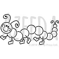 azeeda a4 caterpillar ウォールステンシル テンプレート ws00009871