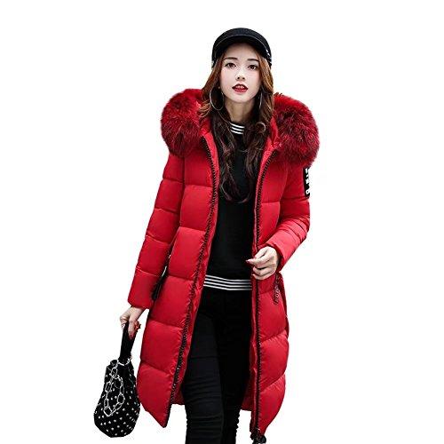 Easonddd EASONDDDダウンコートレディースダウンジャケット中綿コート冬アウターファーフードロングコート着痩せ大きいサイズあり無地厚手冬服防寒着おしゃれあったか女性用
