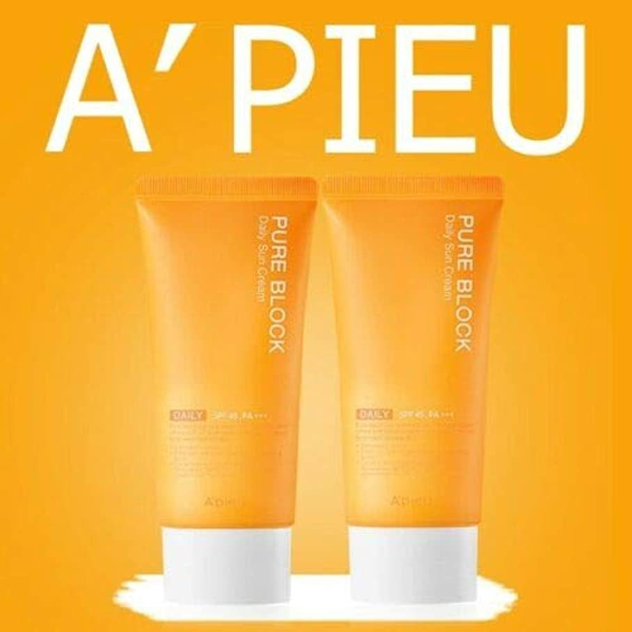 隠されたアプローチホイスト[1+1] オピュ ピュアブロックナチュラル サンクリーム 50ml SPF45/PA+++ APIEU PURE BLOCK Natural Sun Cream