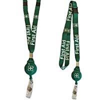 First AidバッジリールLanyard with Double Breakaway