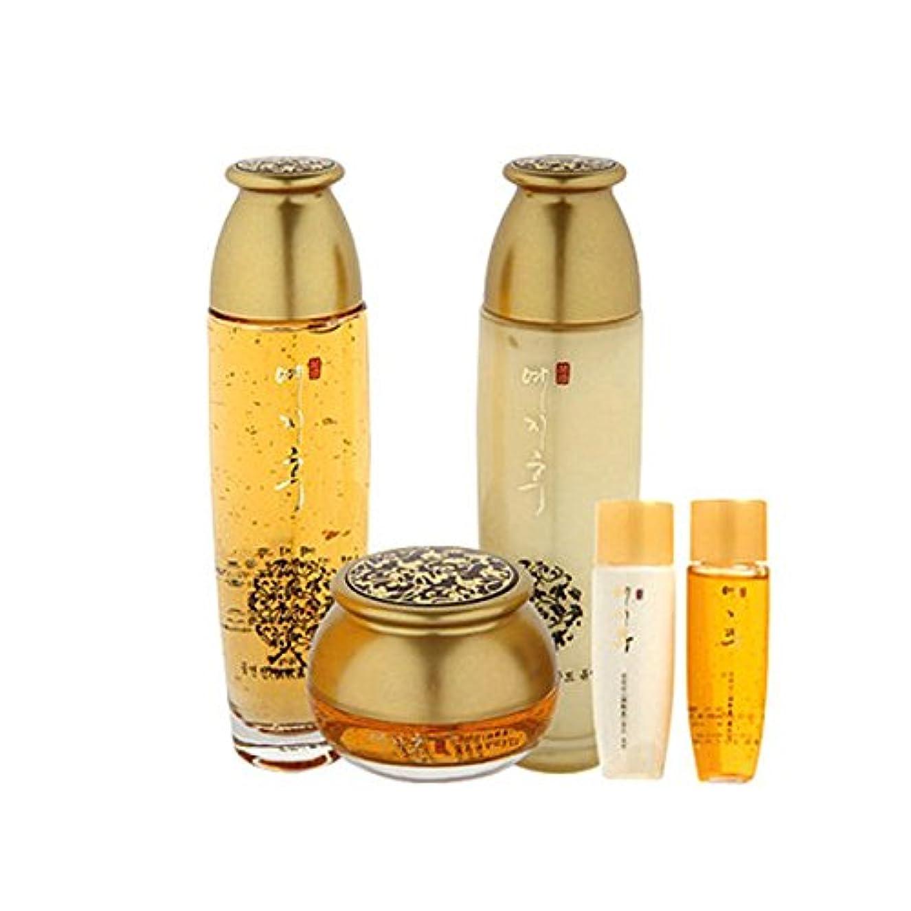 最初はなめらかなカウント[韓国コスメYEZIHU]99.9% Pure Gold Skin Care Set 99.9%ピュアゴールド漢方スキンケア3セット樹液/乳液/クリーム [並行輸入品]