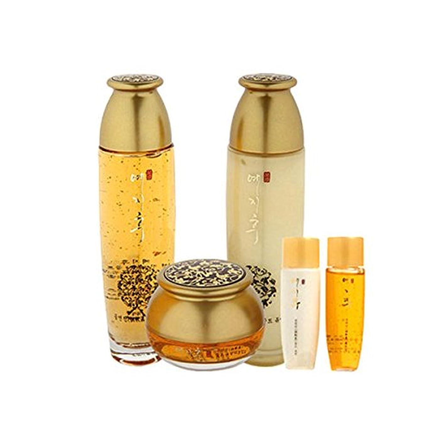 お嬢憤る冒険家[韓国コスメYEZIHU]99.9% Pure Gold Skin Care Set 99.9%ピュアゴールド漢方スキンケア3セット樹液/乳液/クリーム [並行輸入品]