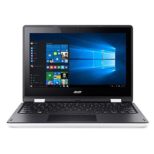 Acer ノートパソコン AspireR11 R3-131T-F14D/WF(ホワイト)  Windows10/Celeron/11.6インチ4GB/500GB/Microsoft Office搭載