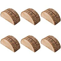 LIOOBO 20pcs Wooden Table Place Card Holders Table Number Holders Memo Photo Clips for Vintage Rustic Wedding Table Decorations Party Supplies