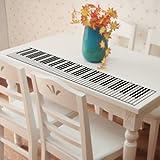 ピアノ鍵盤 デザイン ウォールステッカー ピアノ教室の装飾や練習などに