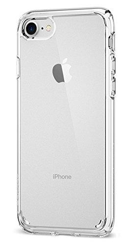 【Spigen】 iPhone8 ケース / iPhone7 ケース, [ 米軍MIL規格取得 落下 衝撃 吸収 ] ウルトラ・ハイブリッド2 アイフォン 8 / 7 用 耐衝撃カバー (iPhone8 / iPhone7, クリスタル・クリア)