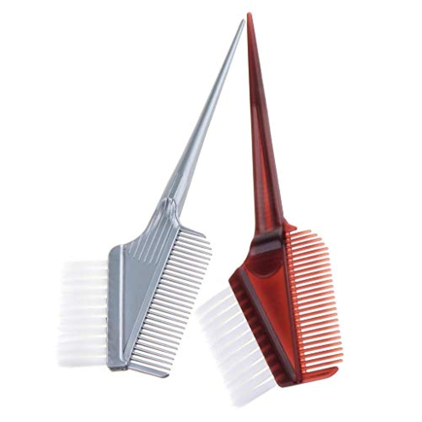 クランプスカルク交渉するヘアダイ コーム 毛染め カラーリングブラシ 髪染めブラシ ヘアトリートメント ヘアカラー