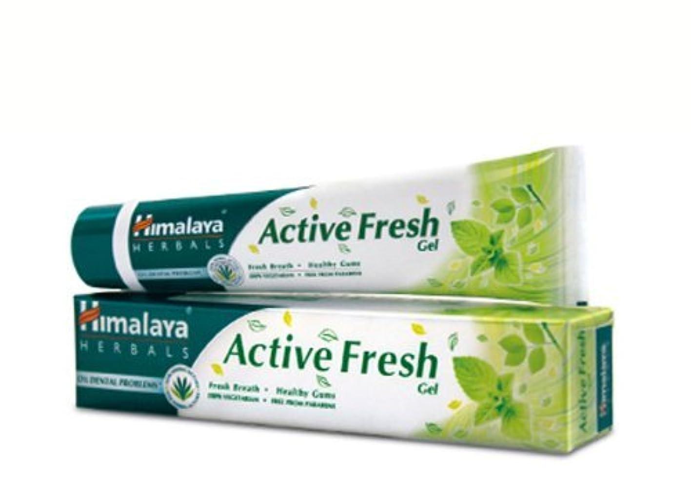 ダム淡い結び目ヒマラヤ トゥースペイスト アクティブ フレッシュ(歯磨き粉)80g×4本 Himalaya Active Fresh Toothpaste