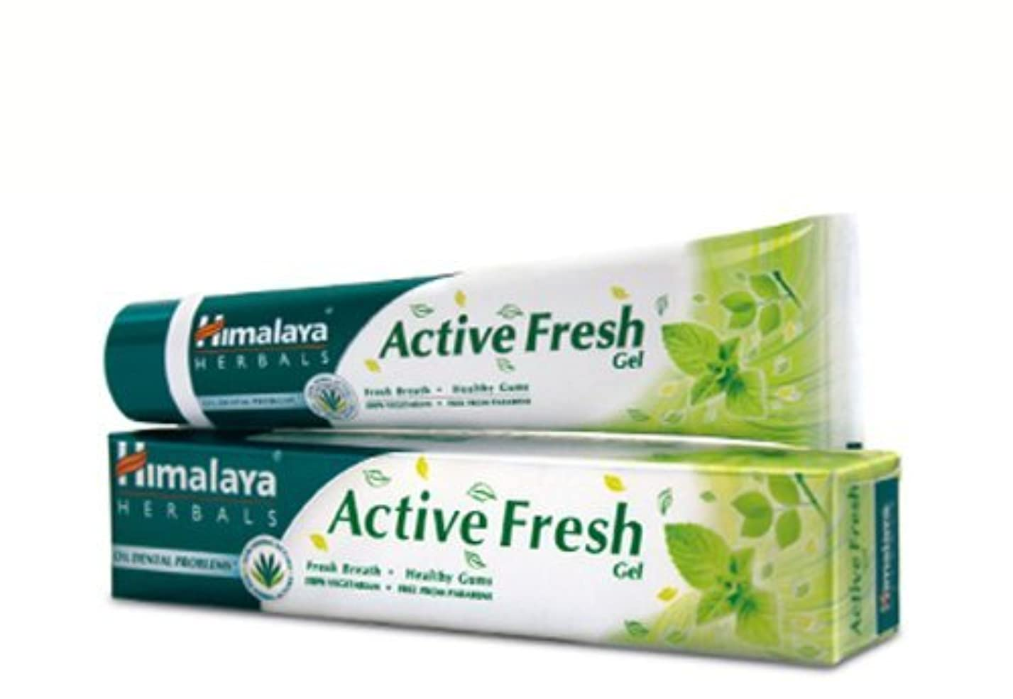 どっちでも経度フルーツヒマラヤ トゥースペイスト アクティブ フレッシュ(歯磨き粉)80g×4本 Himalaya Active Fresh Toothpaste