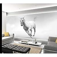 Ansyny カスタム3 D写真の壁紙リビングルーム壁画白い馬ランHd絵画3 D写真ソファテレビの背景不織Hd写真の壁紙-360X250CM