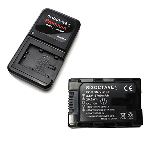 大容量残量表示可能JVC 日本ビクター Victor BN-VG138 BN-VG129 互換リチウムイオンバッテリー「純正充電器及びカメラ本体で充電可能」&カメラバッテリーチャージャー充電器AA-VG1の2点セット GZ-E765 GZ-N5 GZ-N1 GZ-E180 GZ-HM390 GZ-HM33 エブリオ 等