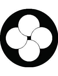 家紋シール 四つ重ね星紋 布タイプ 直径40mm 6枚セット NS4-1654