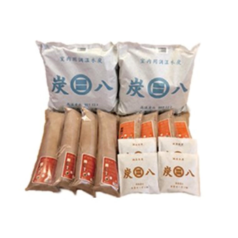 コンパクトやさしく着飾る出雲カーボン 炭八 4種類 14袋 ( 室内用2+押入れ用4+タンス用4+スマート小袋4セット )