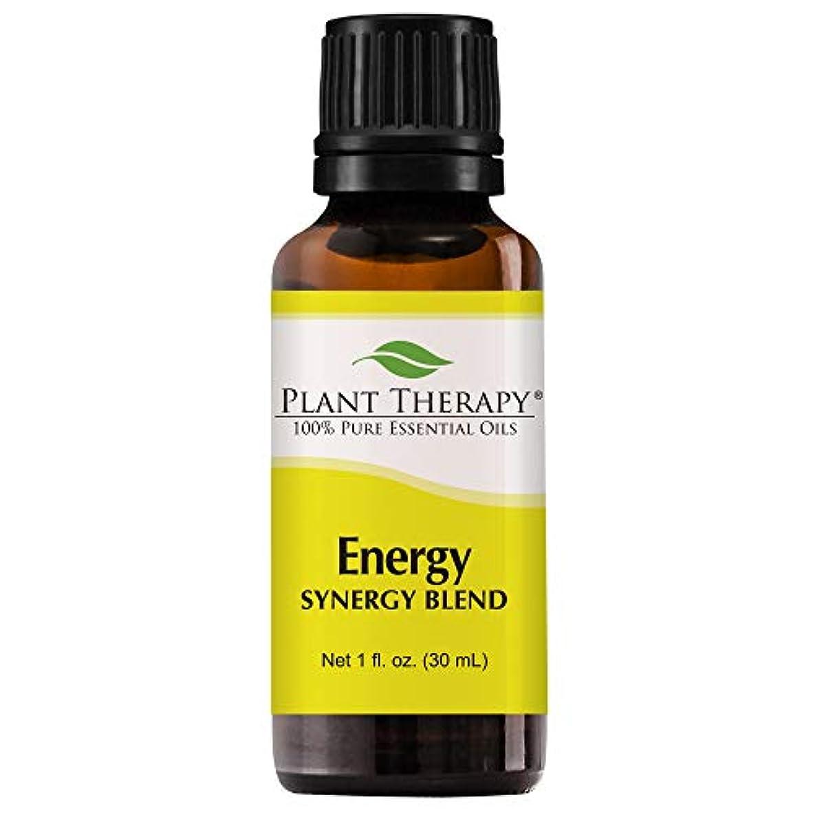 劇場信号カイウスPlant Therapy Energy Synergy Essential Oil Blend (Physical Energy). Blend of: Blood Orange, Peppermint, Lemon, Ginger, Eucalyptus, Geranium Egyptian. 30 mL (1 Ounce).