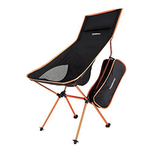 TOMSHOO 【耐過重100kg】 ポータブルコンパクト アウトドアチェア 折り畳み式椅子 軽量 持ち運び可能 登山 釣り用