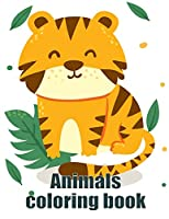 Animals coloring book: coloring book for adults stress relieving designs (Zoo in my hand)