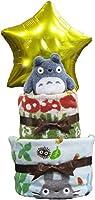 パンパース M トトロ 星 2段 おむつケーキ ジブリ オムツケーキ  出産祝い 誕生日祝い バルーン