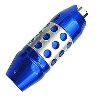 changming 汎用 AT シフトレバー シフトノブ プッシュボタン式 ブルー