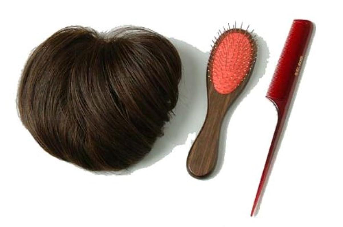 可塑性ロイヤリティ代名詞装いヘアピース ブラウン