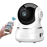 ネットワークカメラ ELEGIANT 監視防犯カメラペット子供見守りベビーモニター WiFi IPカメラ マイク内蔵 暗視撮影 屋内外兼用 HD高画質 アプリ日本語対応 ワイヤレスカメラ スマホ パソコン対応 1