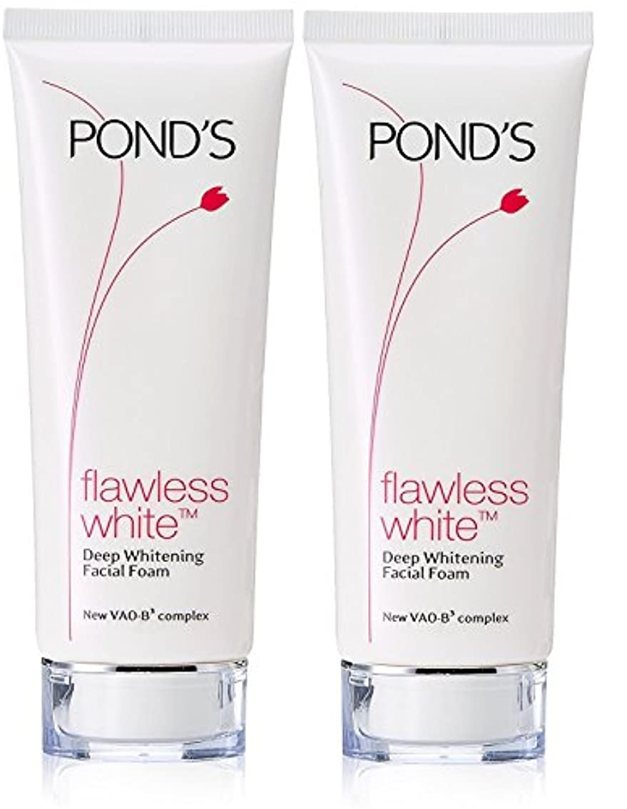 熱帯の内向き戦艦Pond's Flawless White Deep Whitening Facial Foam, 100g (Pack of 2)