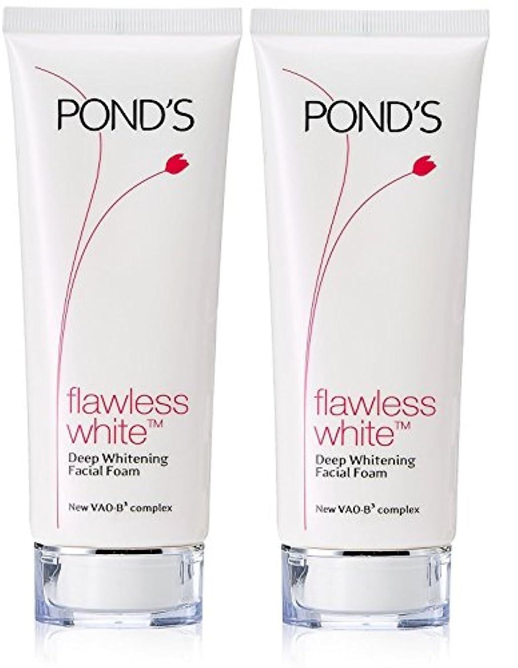 支配するブリード巨人Pond's Flawless White Deep Whitening Facial Foam, 100g (Pack of 2)