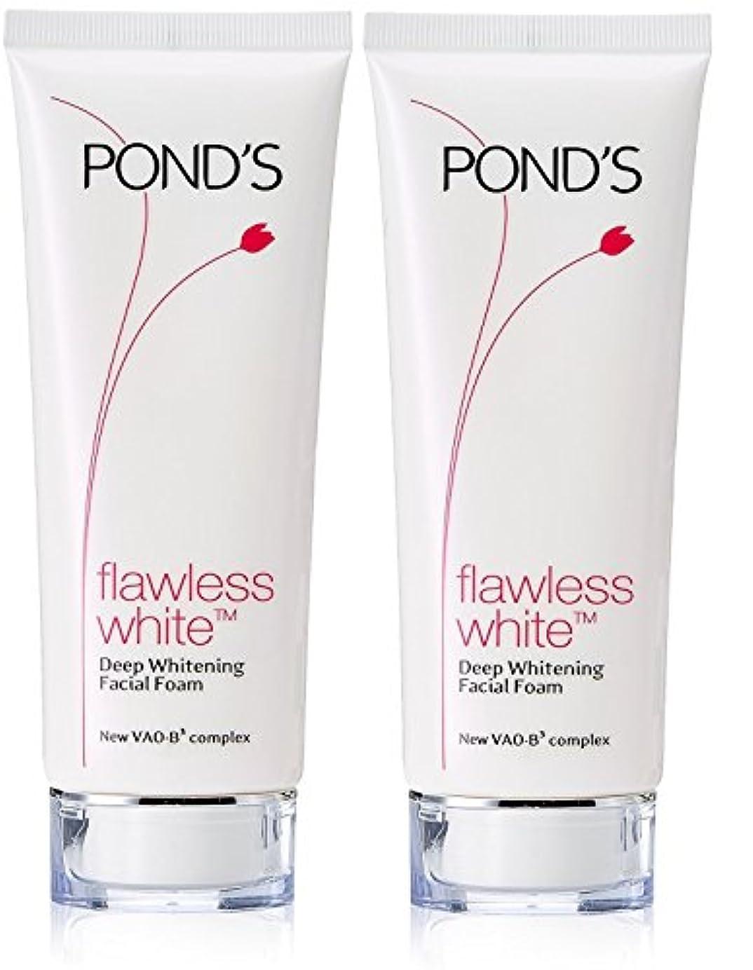 パトロール漫画利益Pond's Flawless White Deep Whitening Facial Foam, 100g (Pack of 2)