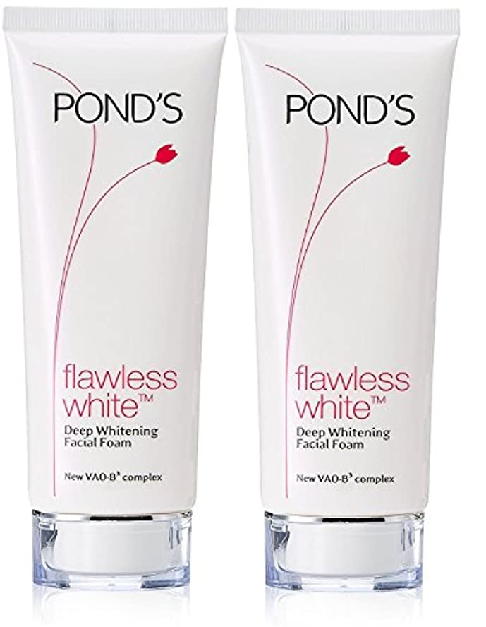 不安定光沢脚Pond's Flawless White Deep Whitening Facial Foam, 100g (Pack of 2)