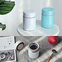 Unibird Mini Vacuum Flasks Thermos食品用ステンレス鋼煮込み食品断熱スープポッチュランチボックス加熱食品容器:ブルー、400ml